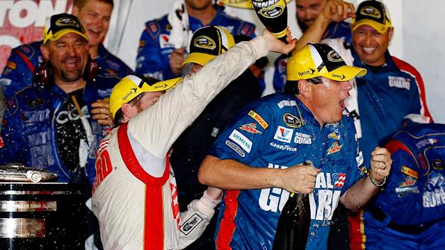 Junior reacts to winning second Daytona 500