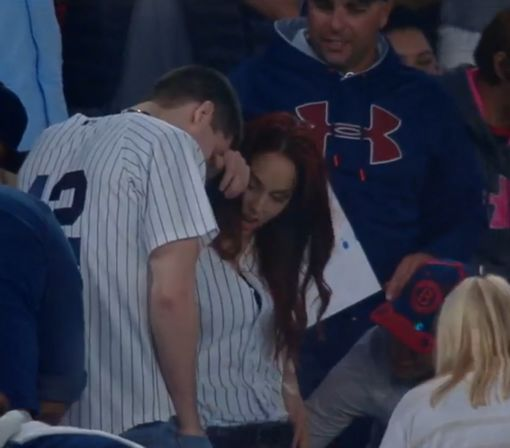 This guy tried to propose at the Yankees game but he dropped the ring