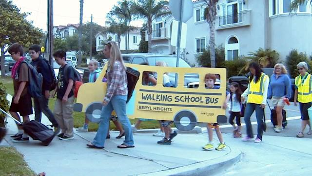 South Bay 'Walking School Bus' exercises kids
