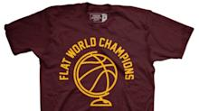 Richard Jefferson wore a shirt that said 'flat world champions' on it because the Cavs are beautiful trolls