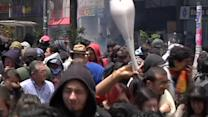 Clashes as Colombian farmers' protest arrives in Bogota