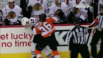 Zac Rinaldo and Sheldon Brookbank scrap