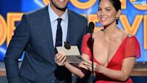 Olivia Munn And Aaron Rodgers Send Autographed Jersey To Packers Fan