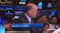 Cramer's Mad Dash: Baidu slides