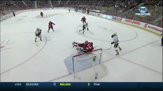 Eric Nystrom rips the goal off the turnover