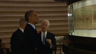 Raw: President Obama Visits Israel Museum