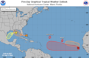 A system crossing Florida is forecast to bring heavy rain, may develop in the Gulf