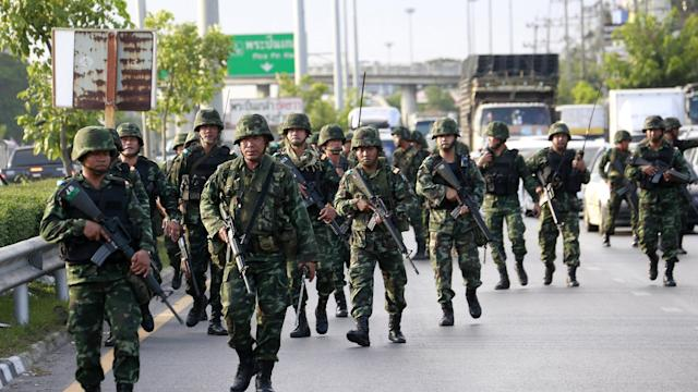 Thai military seizes power in bloodless coup