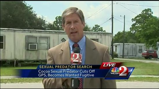 Search on for sexual predator who cut off GPS monitor in Brevard County