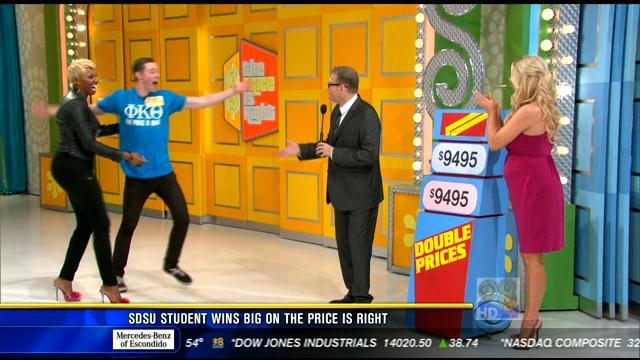 SDSU student wins big on 'The Price is Right'
