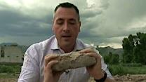 FNC reporter chisels out brick from Bin Laden compound