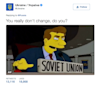 Ukraine and Russia trade Twitter barbs, including a 'Simpsons' GIF