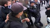 Scuffles break out between Paris youth and police on second day of student protests