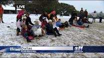 DFW Sledding Leaves Every Person For Themselves
