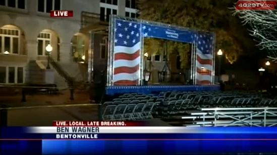 Bentonville prepares for McCain Veterans Day event