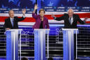 Sanders y Warren brillan en un gris debut de Bloomberg en debates presidenciales