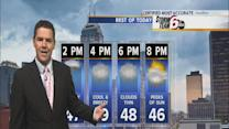 Wednesday's Forecast: Scattered showers with cool, breezy temps