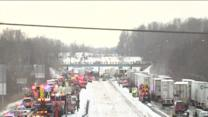 Pileup reported on westbound Interstate 70 in Hendricks County