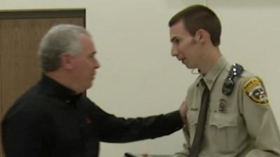 Raw: Texas Deputy Shot by Colo. Suspect Honored