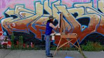 Capturing a Bronx Building's Graffiti on Canvas