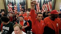 Labor unions take a hit in Michigan
