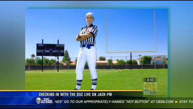The DSC on News 8: First woman ref at Chargers game