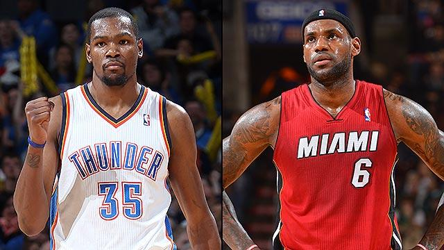 Kevin Durant vs. LeBron James - who you got?