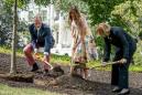 Melania Trump helps plant baby Eisenhower oak at White House