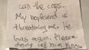 Battered Woman Slips Note To Dog's Vet About Armed Boyfriend, Police Say