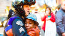 Kid Who Hugged Cop In Viral Protest Photo Feared Dead In Family Car Plunge