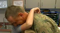 RAW VIDEO: Soldier Surprises Daughters