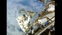 Astronauts leave space station for third spacewalk