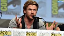 Chris Hemsworth Battles Chris Evans At Comic-Con!