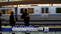 BART Police Begin Enforcing Ban On Lying Down Inside Stations