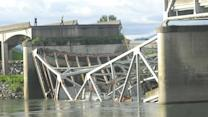 Bridge collapse sends cars into water