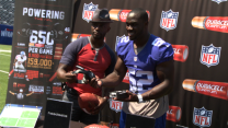 Taye Diggs and the NY Giants' Jon Beason discover the Power behind the NFL